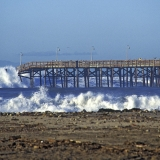 Ventura Pier breaking during a strom in January 1996.